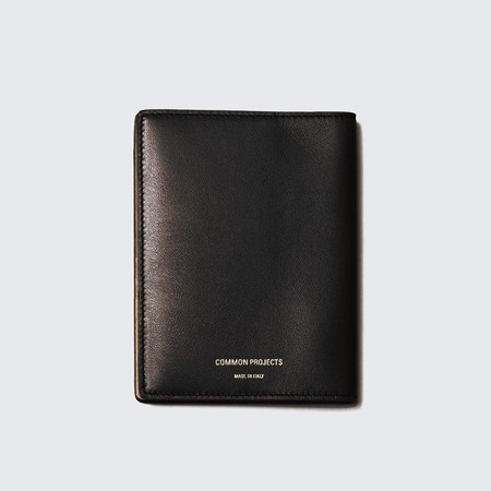 Woman by Common Projects Soft Leather Passport Folio - Black