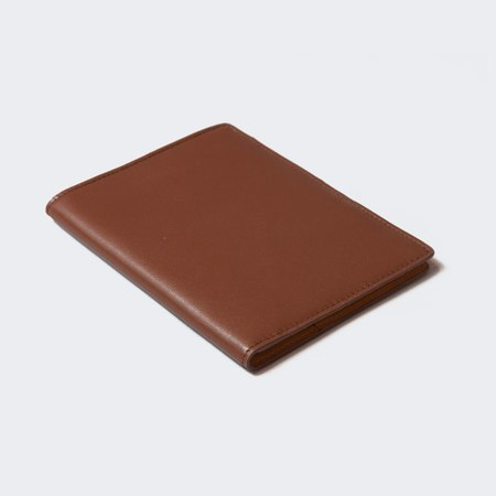 Woman by Common Projects Soft Leather Passport Folio - Dark Brown