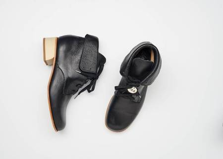 Post Sole Studio Cricket Napoli Leather Boots - Black