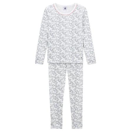 KIDS Petit Bateau Child Pyjamas - White With Tree Branches And Leaves