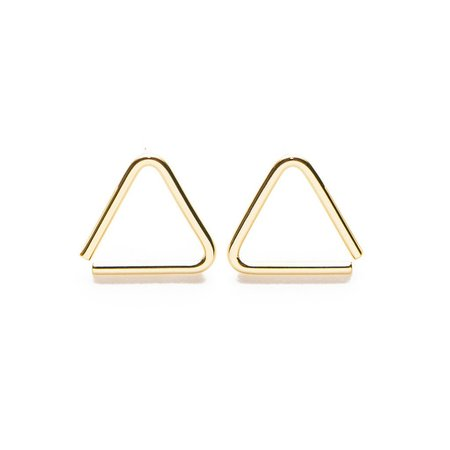 Muizee Triangle Earrings - Gold
