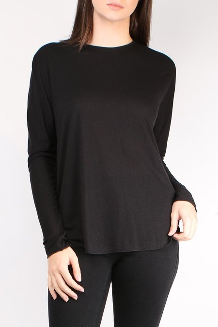 Cathrine Hammel L/S Wool Jersey Top - Black