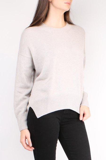 Allude Round Neck Pullover - Grey Beige Melange