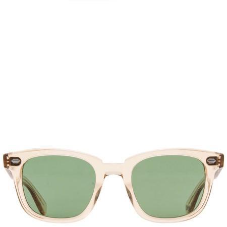 Unisex Garrett Leight Calabar Semi-Flat Sunglasses - Champagne/Pure Green
