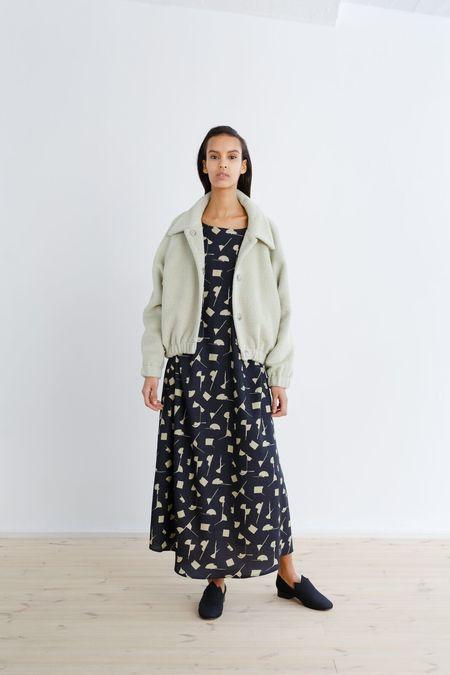 Samuji GERLINDE DRESS - CHARCOAL/SAGE