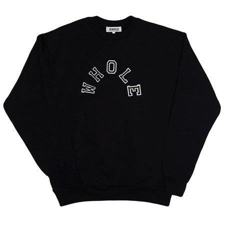 Unisex Skim Milk Whole Patchwork Logo Sweater - Black