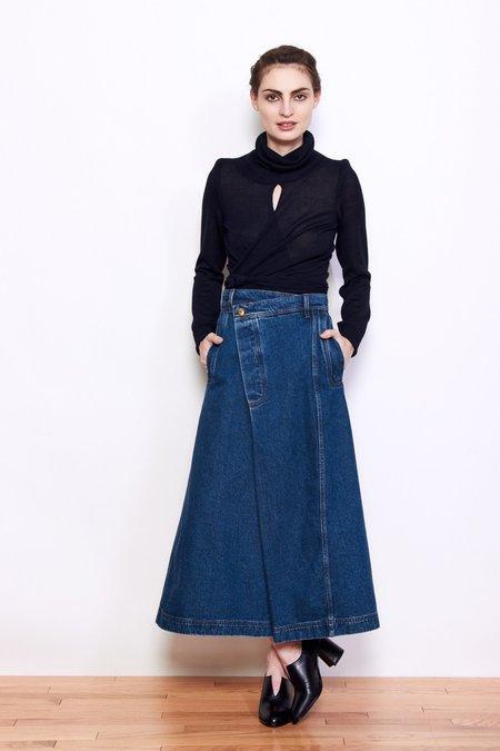 Henrik Vibskov Pound Skirt - Blue Denim
