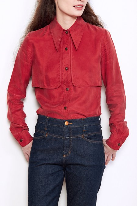 Kurt Lyle Cindy Gunflap Top - Red