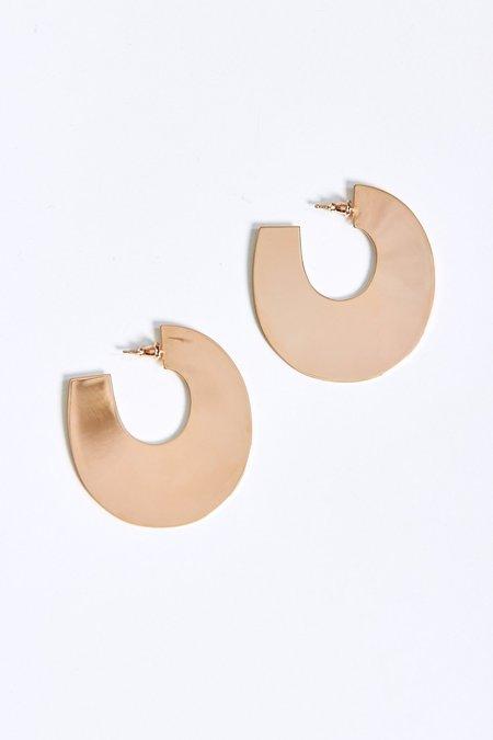 MINOUX Large Bubble Hoops - Bronze