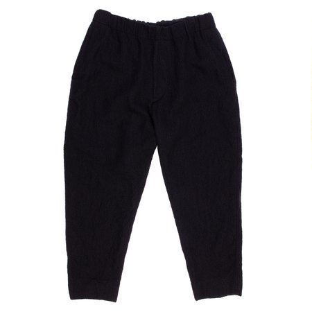 Sage de Cret Wool Linen Easy Pant - Black
