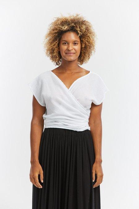 Miranda Bennett Cotton Gauze Hassinger Top - White