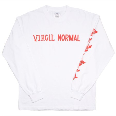 Virgil Normal Roses LS T-shirt - White