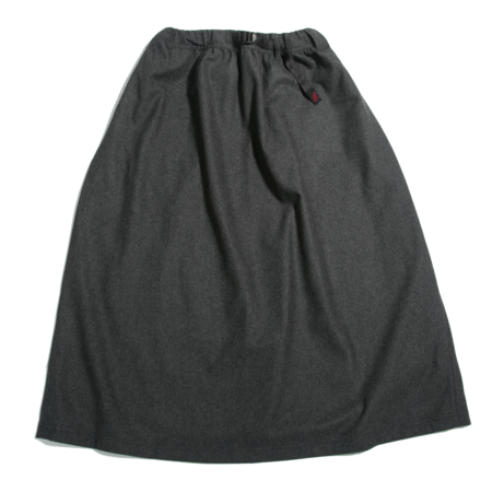 Gramicci Wool Blend Long Flare Skirt - Heather
