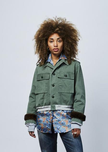 Harvey Faircloth Cropped Fatigue Bomber - Olive