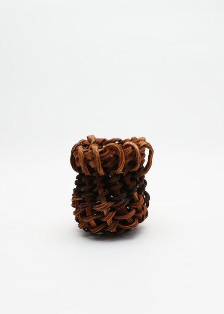 Lina Prairie Kelp Swirl Basket - Black/Brown