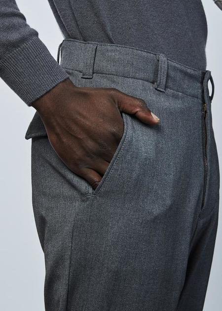 Sage de Cret Snap Pocket Drop Pant - Gray