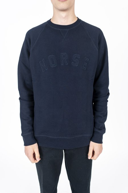 Norse Projects Ketel Classic Ivy Logo Crewneck - Dark Navy