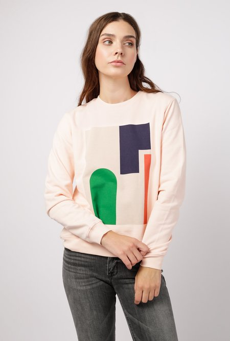 Kowtow Wall Crew LS Top - Light Pink