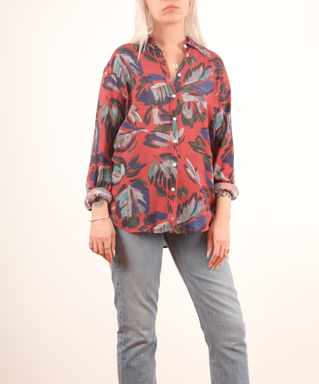 Hartford Corazon Woven Shirt w/ Print - Terracota