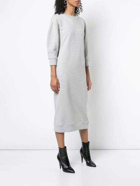 Tibi Easy HG Sweatshirt Openback Sweatshirt Dress - Heather Grey