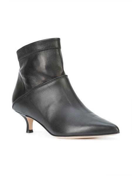Tibi Jean Calf Leather Bootie - Black