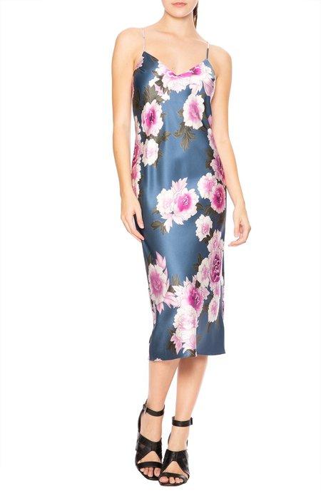 fleur du mal Silk Bias Dress - Caspian Floral
