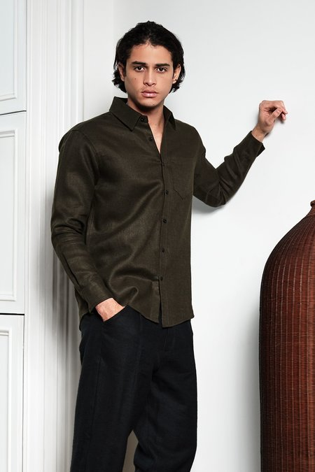Blluemade Long-Sleeved Shirt - Moss Green