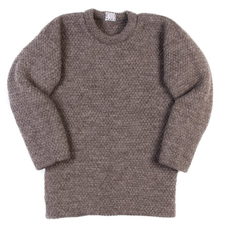 Tender Mirror Panel Double Pullover - Unborn Ryeland Wool