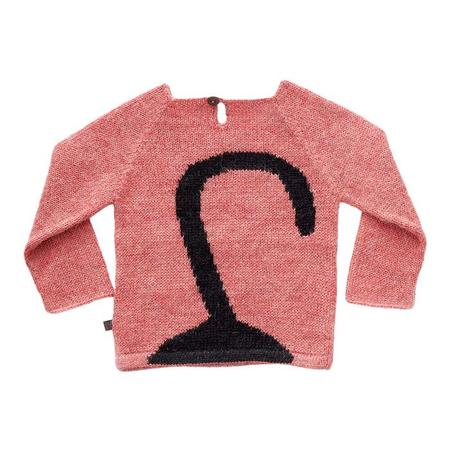 KIDS Oeuf NY Baby and Child Sweater With Cat - Rose Pink