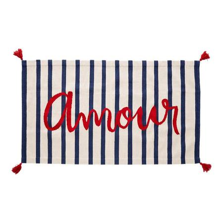 Oeuf NY 4' x 6' Rug Amour - White With Indigo Blue Stripes