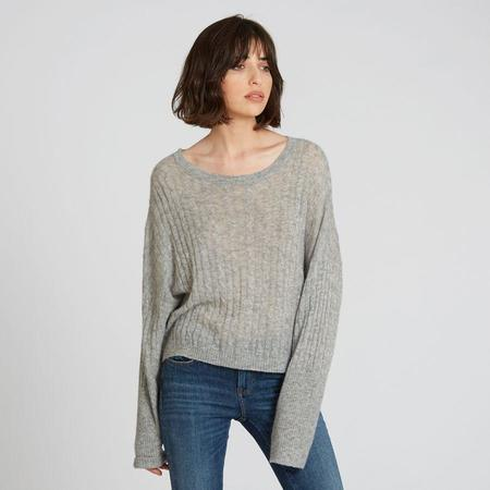 Autumn Cashmere Boxy Crop Cable Sweater - Drizzle