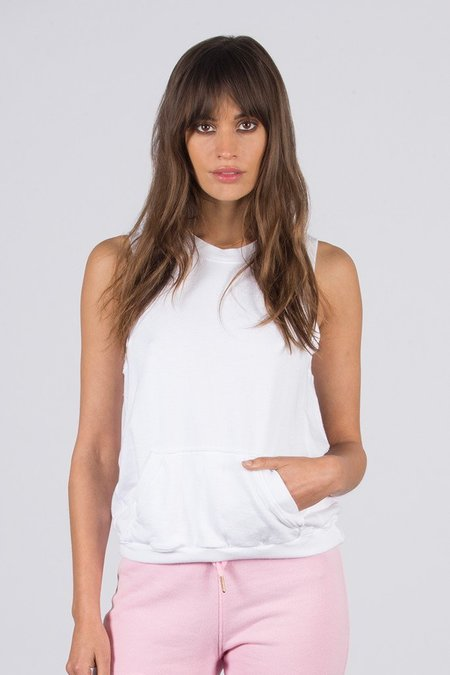 David Lerner Sleeveless French Terry Pullover
