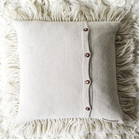 Erica Tanov Alpaca Shag Pillow - Natural