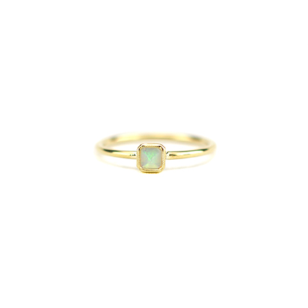 Grace Lee Designs Petite Square Bezel Opal Ring