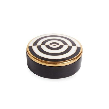 Jonathan Adler Op Art Round Box - Black/White