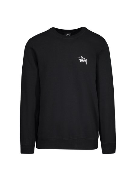 Stussy Basic Crew Sweatshirt - Black