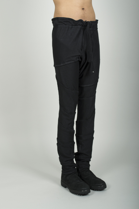 Julian Rehbock Many Pieces Linen Jersey Pants with Pockets - Black