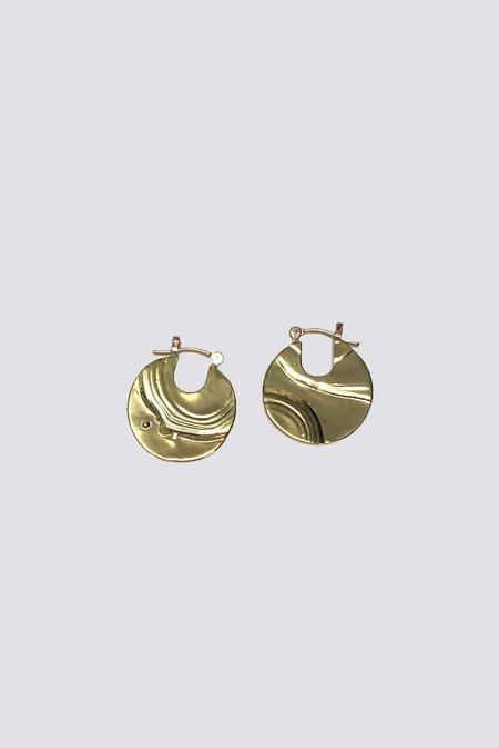 Leigh Miller Small Pailette Earrings - Brass
