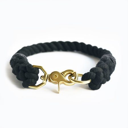 Moondog Design Rope Collar - Black