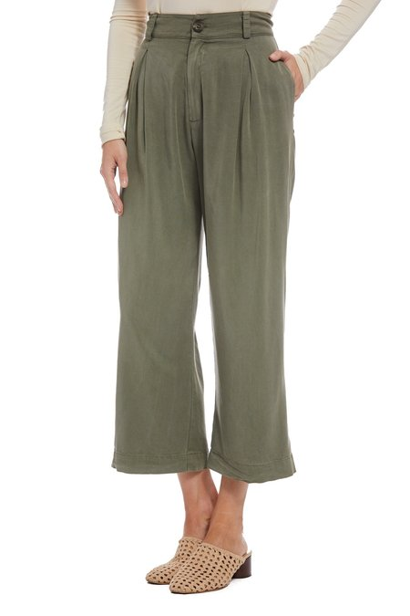 Rachel Pally Twill James Pants - Olive
