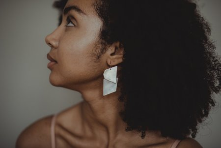 Takara High Sea Earrings - White
