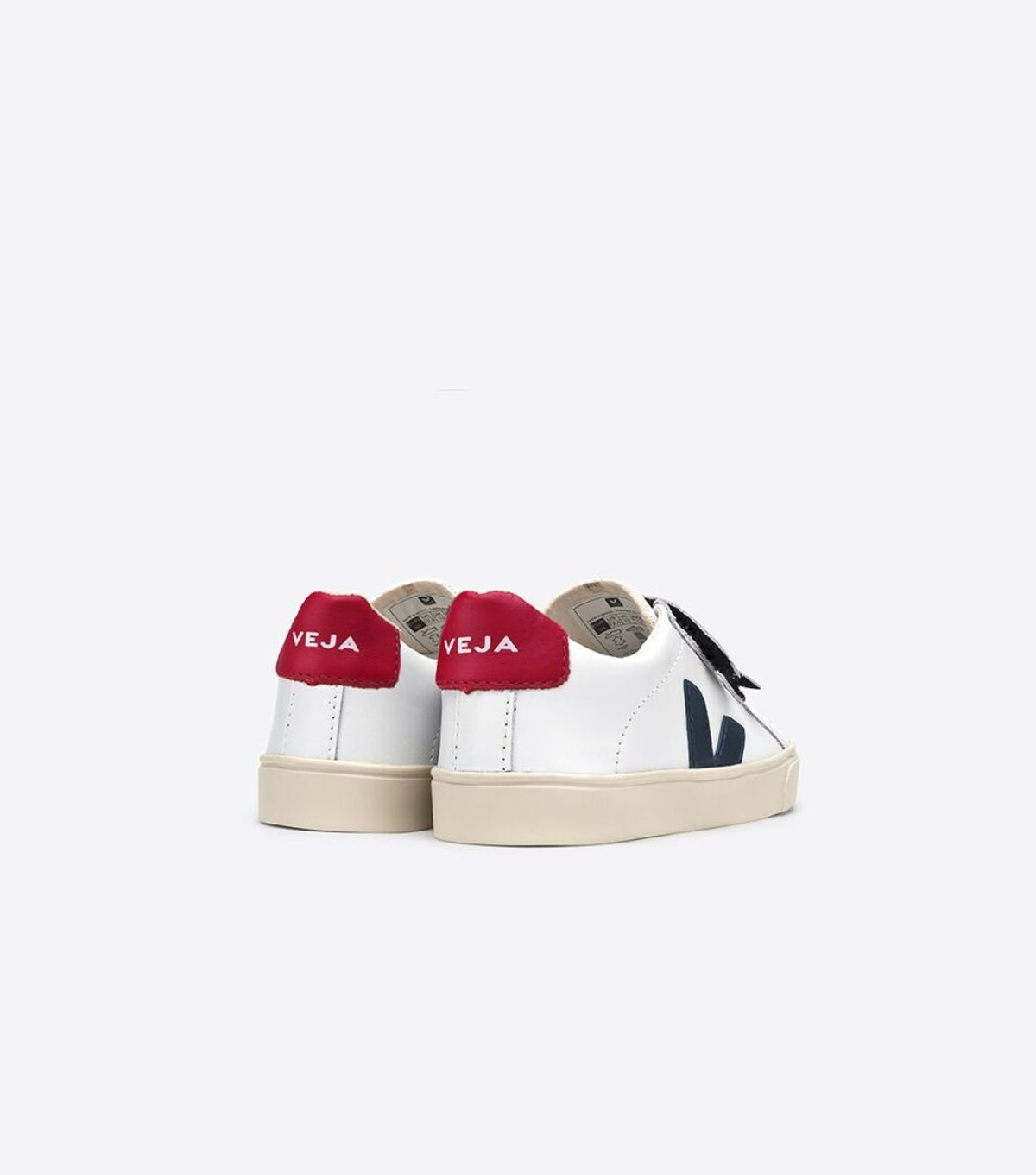 b8eb49e0568 Kids Veja Esplar Small Velcro Leather Shoes - Extra White Nautico ...