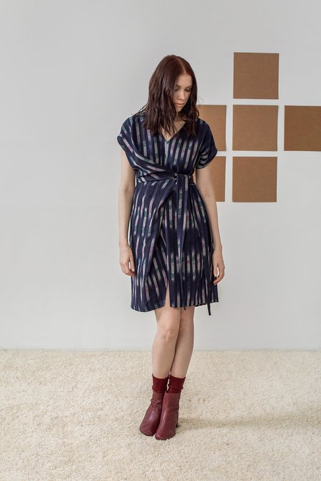 Rujuta Sheth August Half Wrap Dress - Eclipse