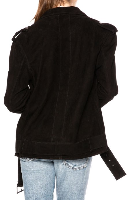 Lot78 Ella Suede Biker Jacket