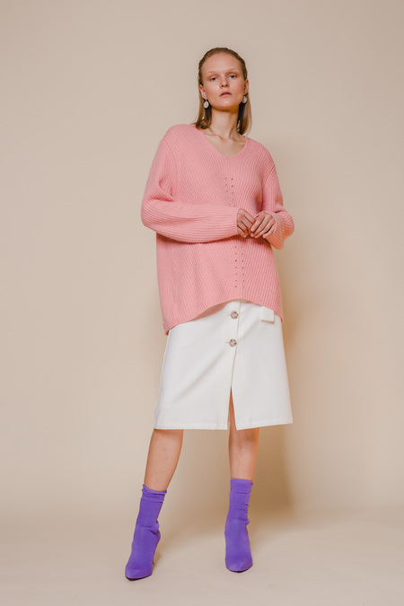 OPUSION V-neck Sweater - PINK
