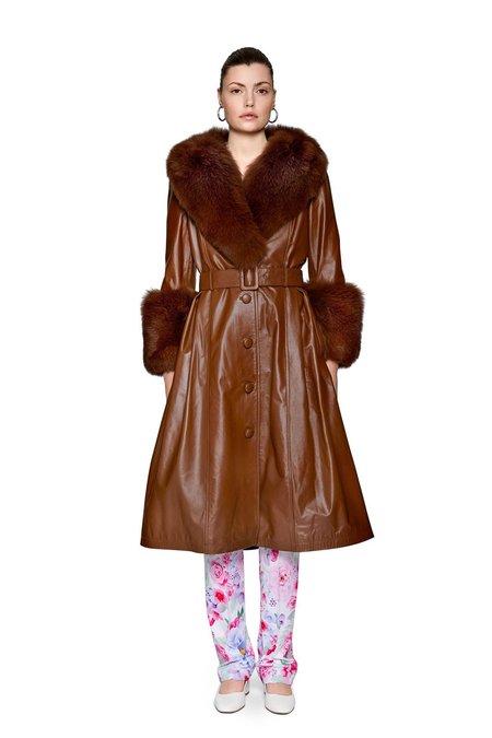 Saks Pott Foxy Coat - Walnut