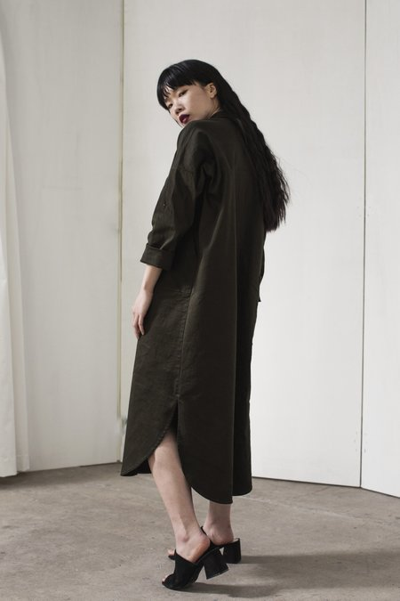 Winsome Ines Jacket Dress - Olive