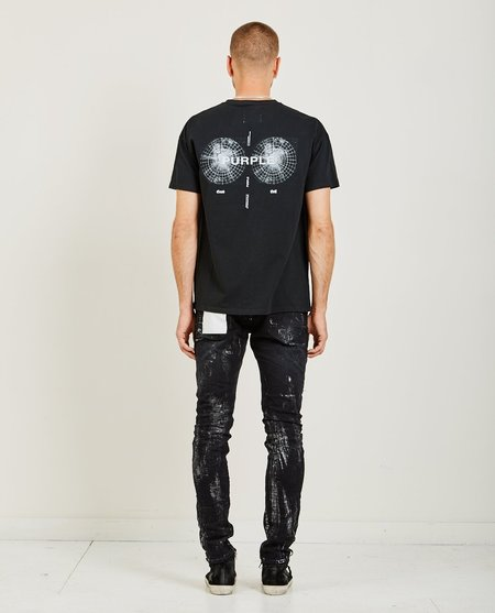 Purple Good Evil Relaxed Fit Tee - Black
