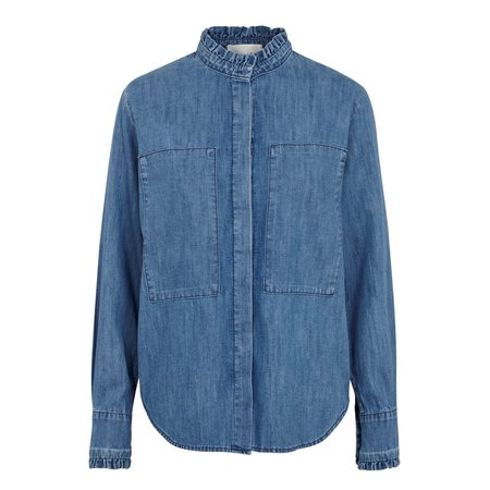 Just Female Rocket Denim Shirt - Light Blue