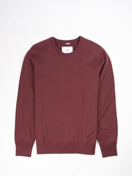 Reigning Champ Midweight Terry LS Crewneck - Crimson
